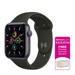 Apple Watch SE GPS 44mm Space Gray Aluminium Case with Black Sport Band Smartwatch