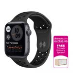 Apple Watch Nike SE GPS 44mm Space Gray Aluminum Case with Anthracite/Black Nike Sport Band Smartwatch