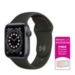 Apple Watch Series 6 GPS 40mm Space Gray Aluminum Case with Black Sport Band Smartwatch