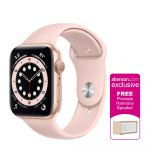 Apple Watch Series 6 GPS 44mm Gold Aluminum Case with Pink Sand Sport Band Smartwatch